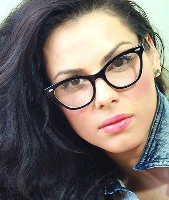 cb46ff7ef3 50 s Retro Vintage Sexy Cat Eye Black Frame Clear Lens Women  eyeglasses  Glasses