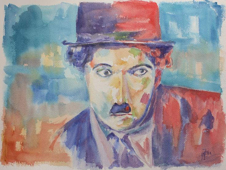 Tributo a Voka en Acuarela - Chaplin Trubte to Voka in Watercolor - Chaplin HMZEN'14