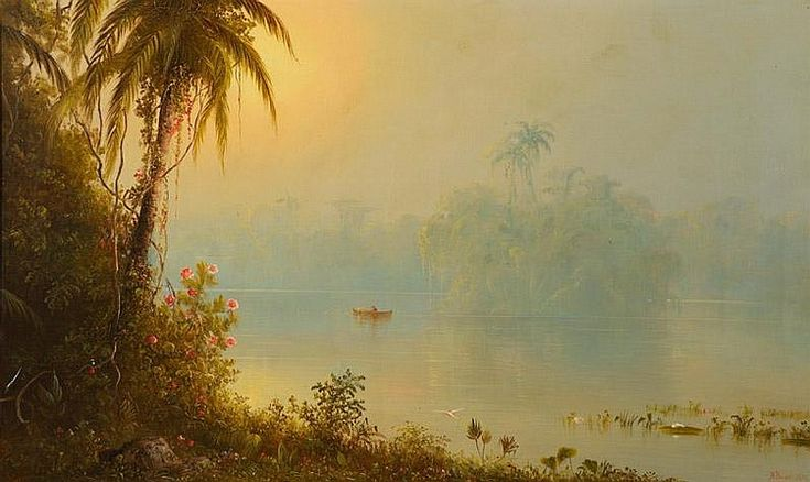 Gatun Lake - Panama (1874) by Norton Bush (1834-1894)