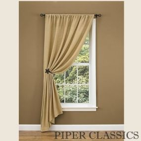 Simple Burlap Single Drape 84 Window Panels Curtain