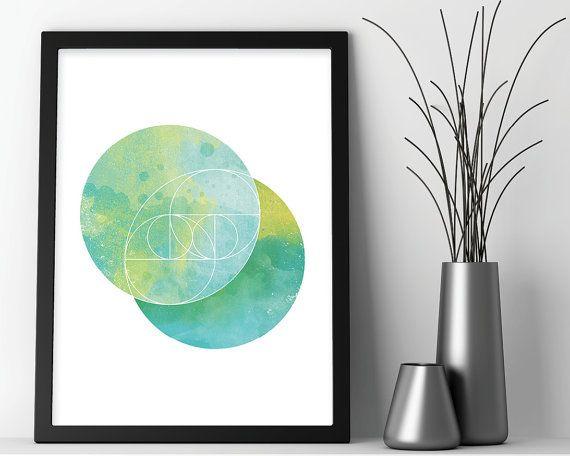 Minimalistische Kunstdruck, minimalistischen Print, geometrische Kunst, geometrische Print, Heilige Geometrie Kunst, Zen Art Minimalist Poster, Boho-Kunstdruck  Eine wunderbar leichte, minimalistische Druck in den Farben blau und Grün in einem Heiligen Geometrie-Design. Dieses Stück wird eine erhebende Stimmung zu jedem möglichem Raum einzuflößen, mit seinen herrlichen Aqua und grün Tönen und minimalistisches Design.  Abgesehen davon, dass perfekt für Ihr Haus oder Büro, würde dieser Druck…