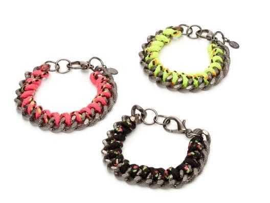 Neon Chainlink Bracelet.Style, Bette Electric, Crafts Night, Jewelry, Jewels, Friendship Bracelets, Chainlink Bracelets, Woven Bracelets, Haute Bette