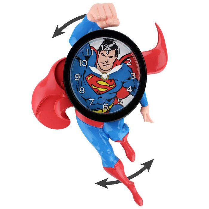 Superman 3D Motion Clock   DC Comics Clock   Popcultcha