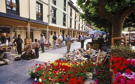 Oviedo dia de plaza en el Fontan.