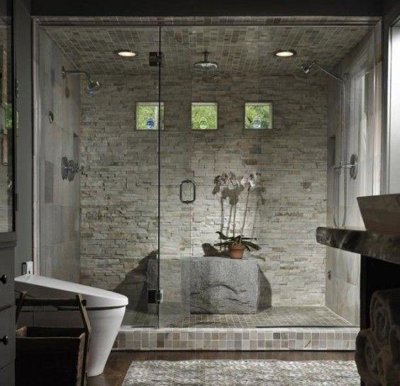 Oltre 1000 idee su doccia in pietra su pinterest doccia - Rivestimento bagno in pietra ...