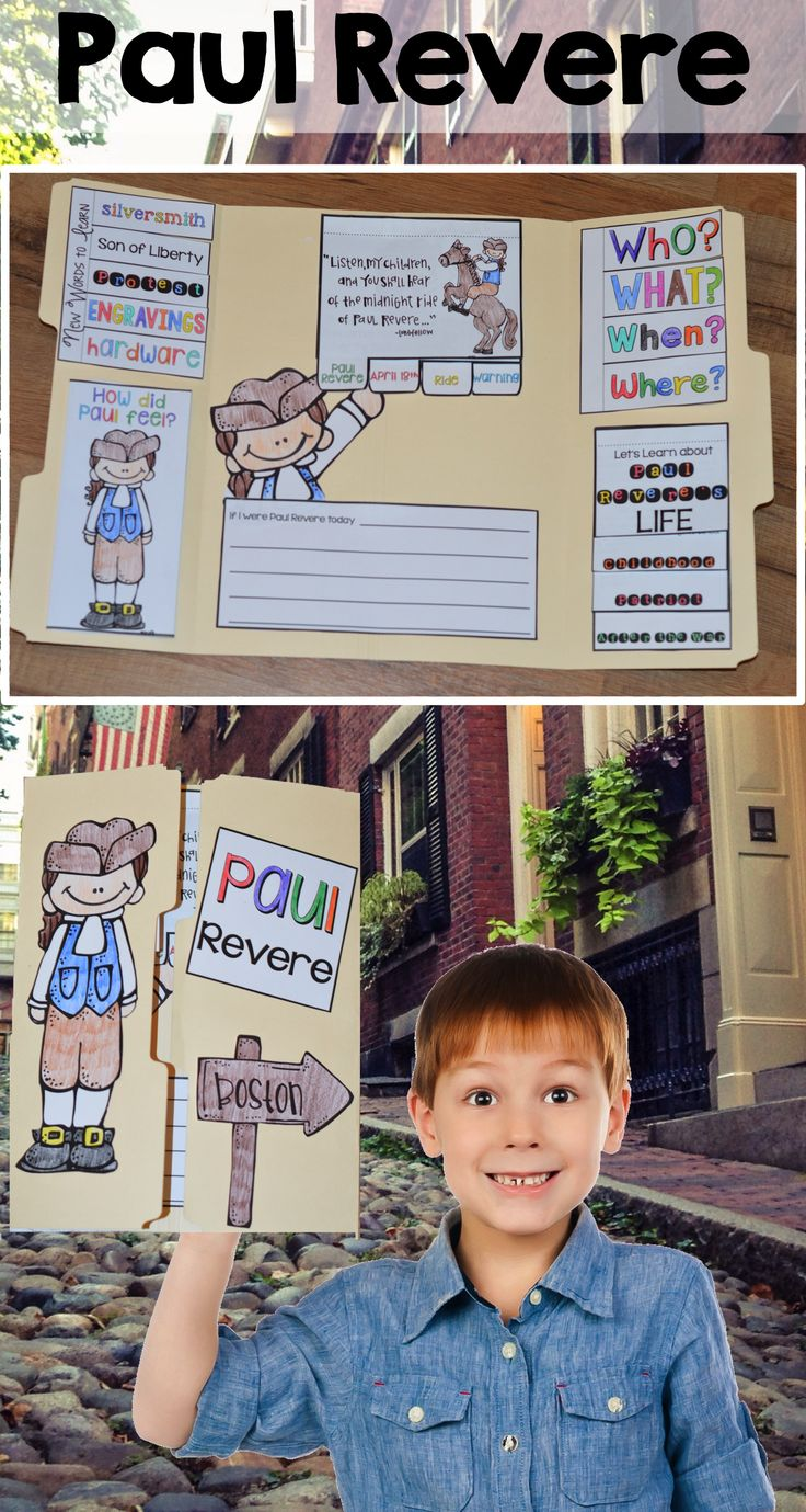Do you need to add a little more excitement and engagement to your Paul Revere unit? Or are you looking for the perfect review before the test? This lapbook activity is sure to keep those kiddos engaged and enthusiastic as you bring history to life. The lapbook includes key vocabulary review, biography information, making connections with Paul Revere, who, what, when and where flipbook, and a writing topic activity.
