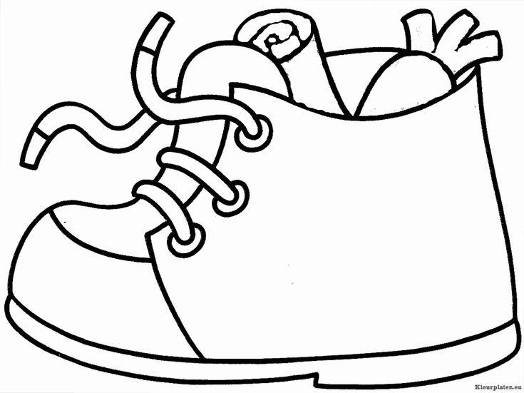 Sinterklaas schoen zetten kleurplaat