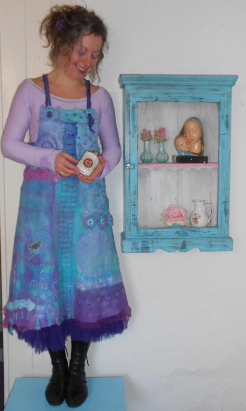 Felted dress by Rozevilterije http://www.facebook.com/AtelierRozevilterije