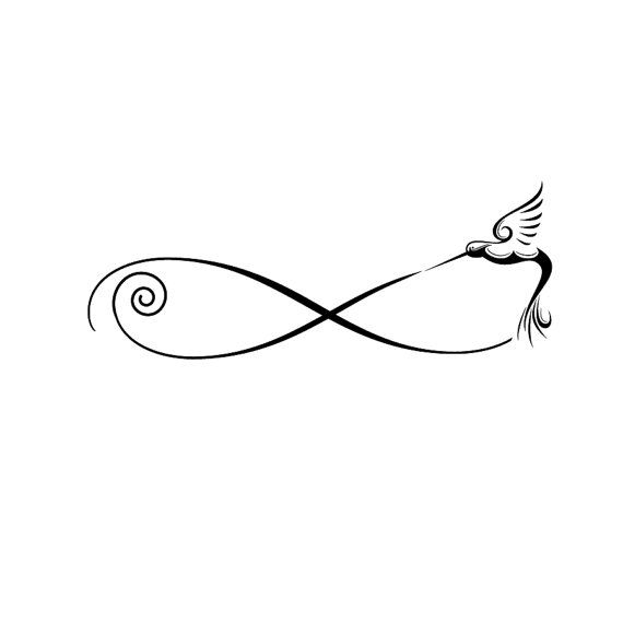 Hummingbird Infinity Tattoo/Design by TheAutumnRabbit on Etsy, $20.00