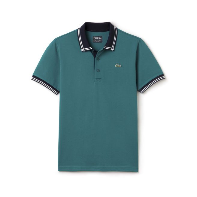Polo Golf Lacoste SPORT en maille superlight avec piping