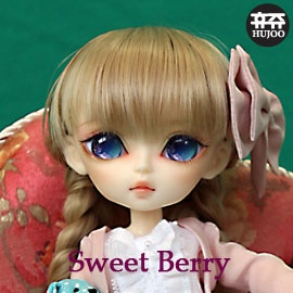 Hujoo 24cm ABS Berry BJD Doll in Apricot Skintone