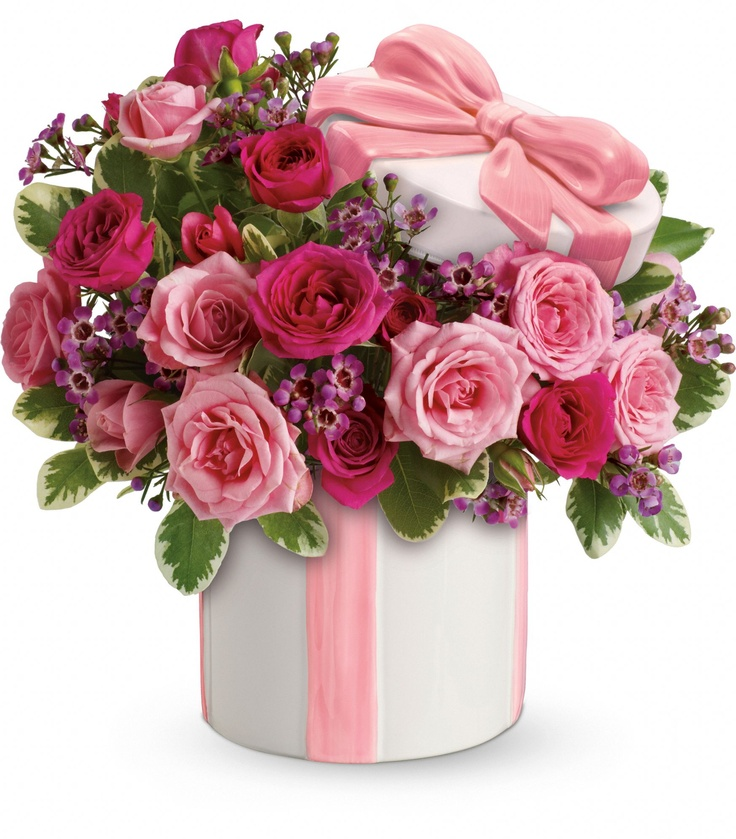 Teleflora 39 s hats off to mom bouquet regalos pinterest for Mother day flower arrangements