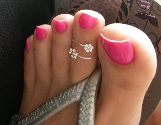 Flowers Toe rings