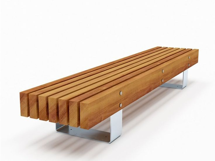 Backless Steel And Wood Bench Quay Bench By Factory Furniture In 2020 With Images Wood Bench Outdoor Wood Bench Wood Bench Design