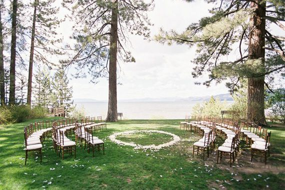 Wedding Inspiration: The Ceremony | In Spaces Between I like the idea of chairs going around ceremony area...would be pretty around a gazebo :o)