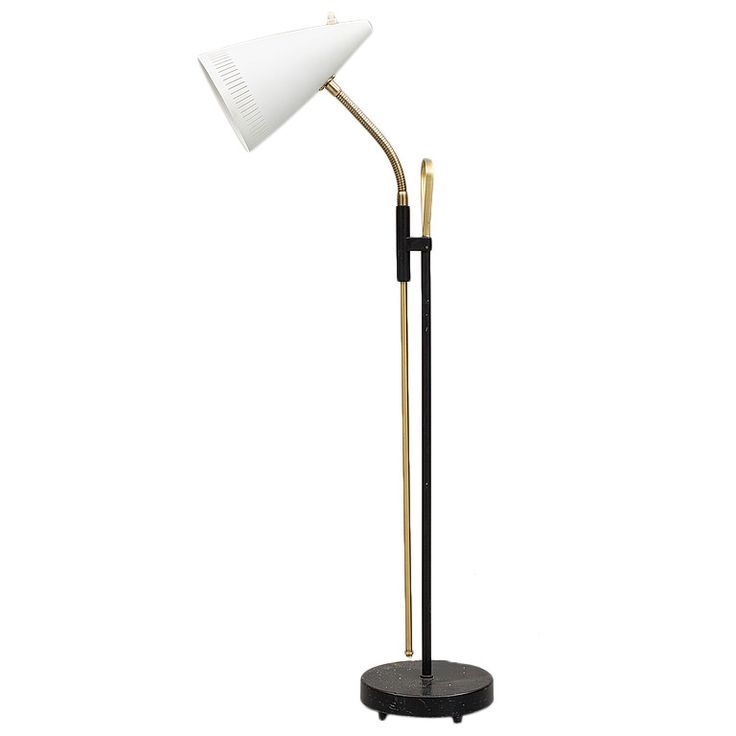 Scandinavian Floor Lamp by Falkenbergs, circa 1960   From a unique collection of antique and modern floor lamps  at https://www.1stdibs.com/furniture/lighting/floor-lamps/