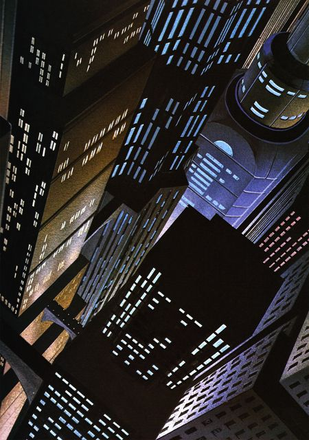 "Gotham City (via ""Batman: The Animated Series"")."