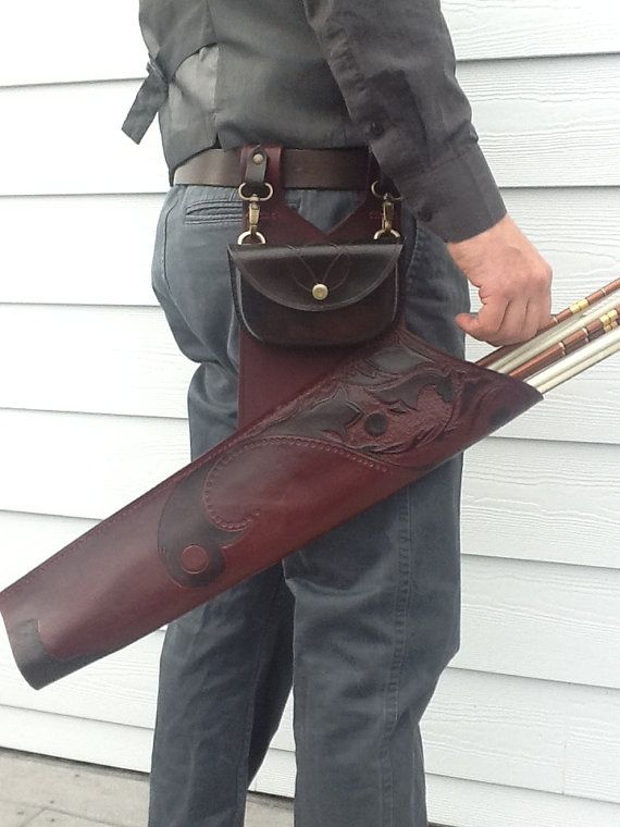 Eleven/Nouveau side quiver with possibles pouch by Kwivers on Etsy