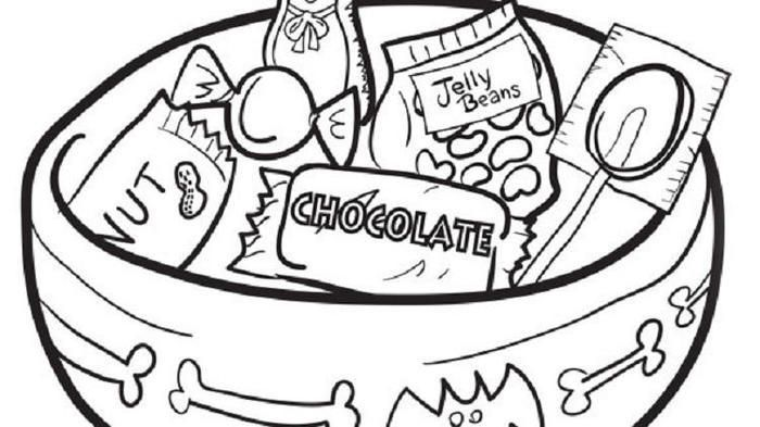 Candy Coloring Pages Printable Candy Coloring Pages Free Halloween Coloring Pages Halloween Coloring Pages Printable
