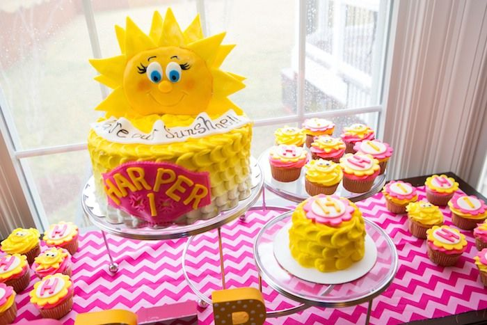 You are My Sunshine themed first birthday party