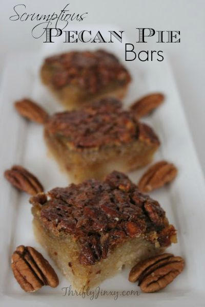 Scrumptious Pecan Pie Bars Recipe - Thrifty Jinxy