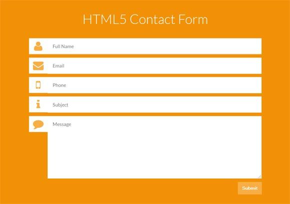 25 Best Free CSS, HTML Contact Form Templates + Tutorials - Design - feedback form template