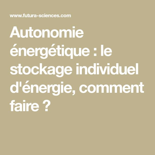250 best Autonomie énergétique images on Pinterest Renewable
