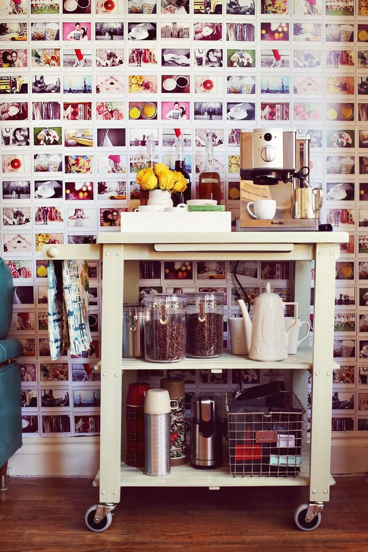 Instax inspiration. Photo wall and Espresso cart