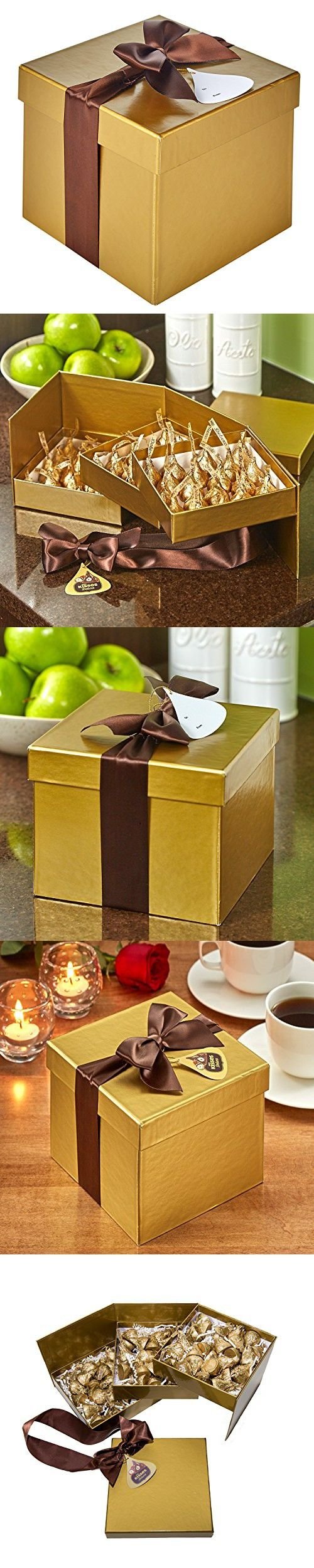 KISSES Deluxe Chocolates Gift Box, 21.7 Ounce
