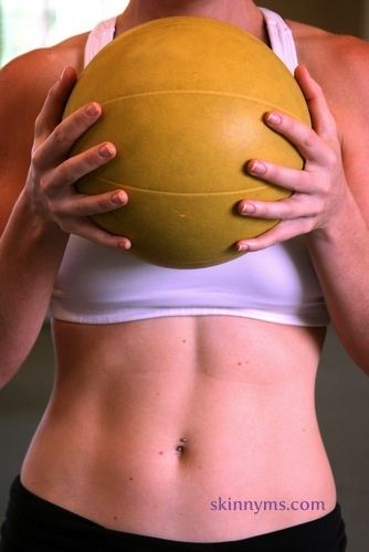 These medicine ball exercises will show you the versatility of the medicine ball, while being a dynamic total body workout that'll leave you feeling like you just got a real dose of fitness medicine! #skinnyms #fitness