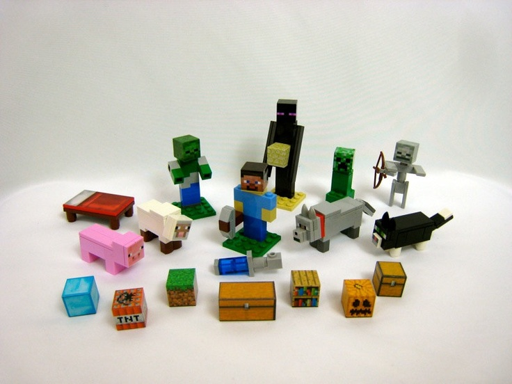 Lego Minecraft Custom Deluxe Set Steve Enderman By