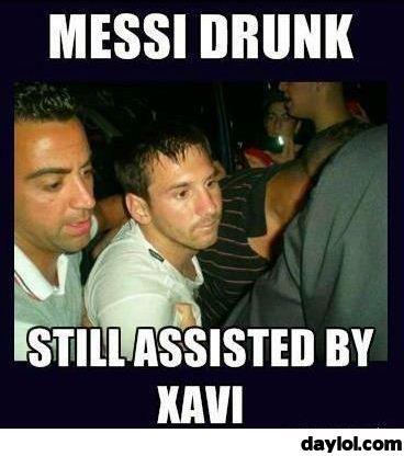 Messi drunk ...