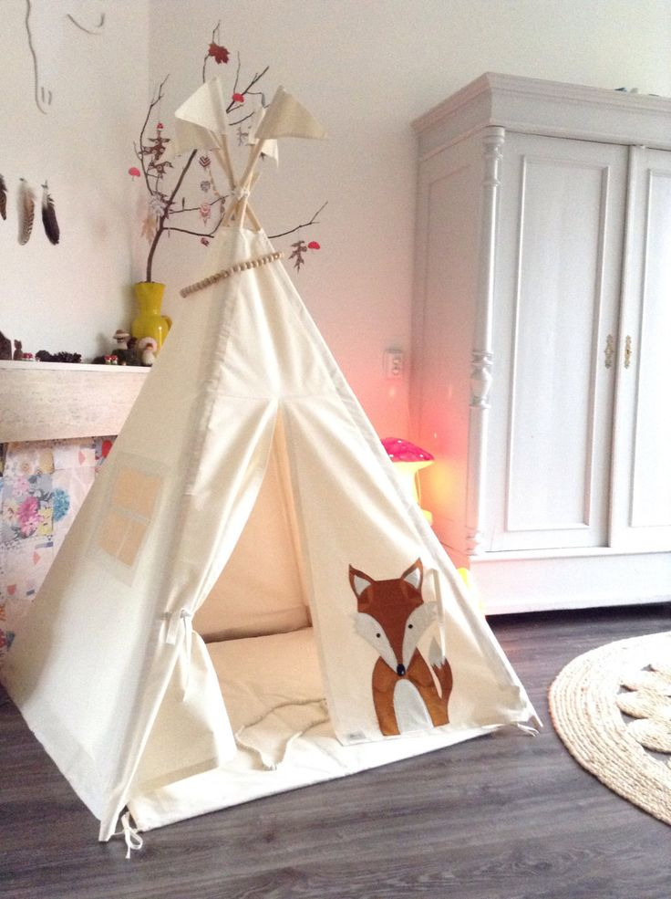 A personal favourite from my Etsy shop https://www.etsy.com/listing/490795259/play-teepee-tent-midi-size-fox-decorated
