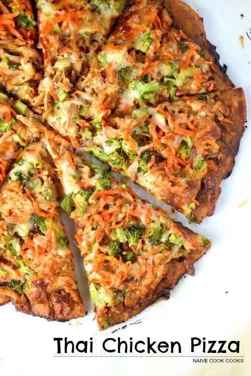 CPK Inspired Thai Chicken Pizza