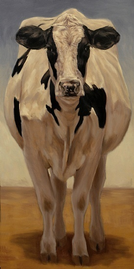 Denise Rich | OIL | Cow Girl Holstein