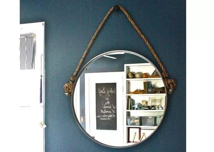 25 beste idee n over touw spiegel op pinterest strand for Ronde spiegel met touw