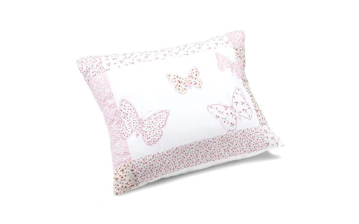 Bella Butterfly Pink Cotton Decorative Cushion at Laura Ashley