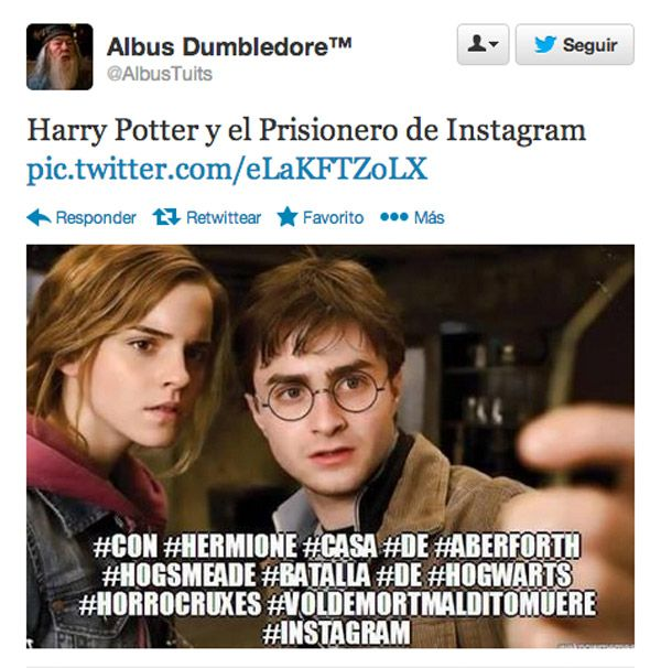Harry Potter y el Prisionero de Instagram.