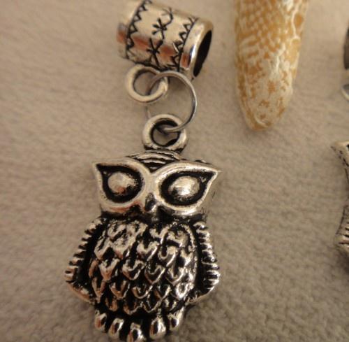 Charming Owl Charm for  Pandora Bracelet