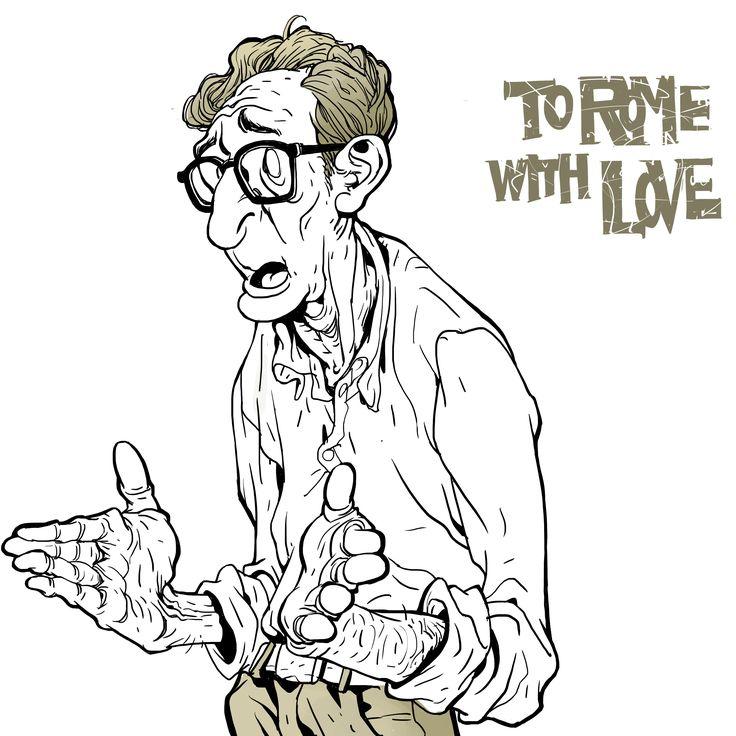 Woody Allen, fan art, character design, photoshop, KangMinjung  www.facebook.com/naphe4