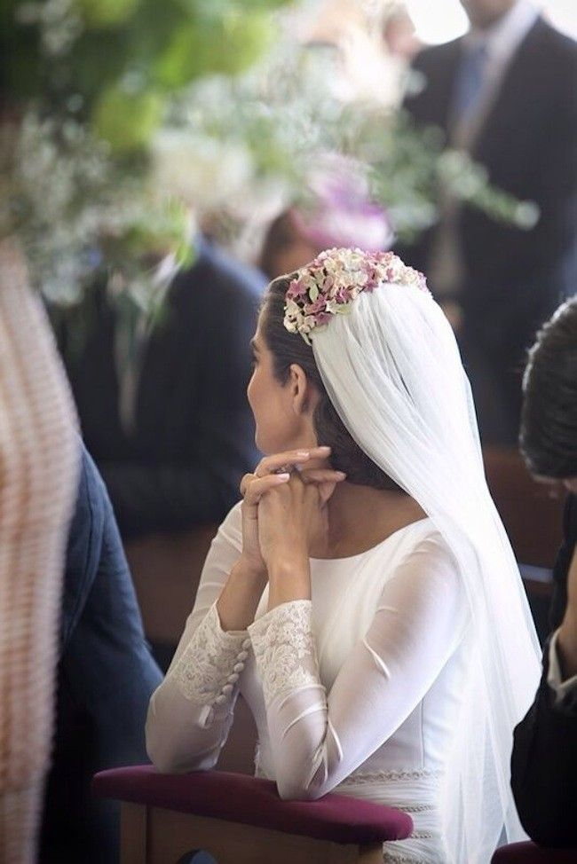 Le Touquet Mercedes Blanco headpieces. #bridal #wedding #floral
