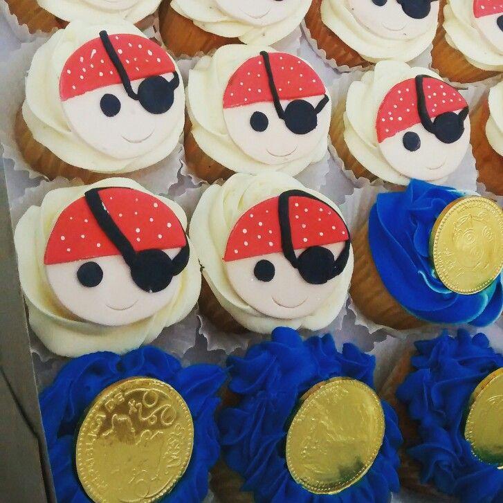 Cupcakes piratas temática