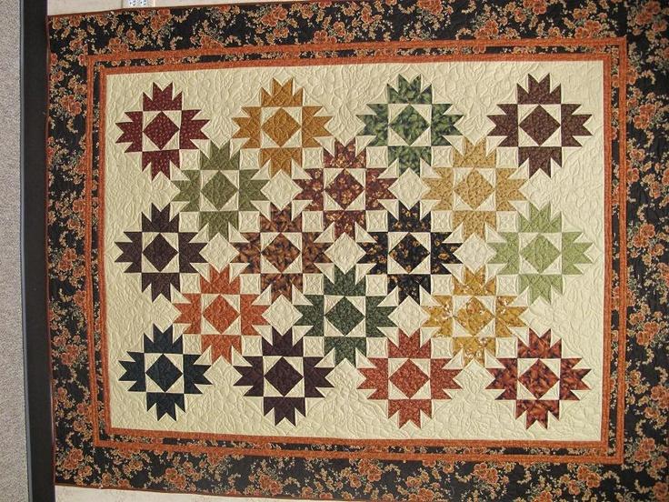 Beautiful fall quilt.