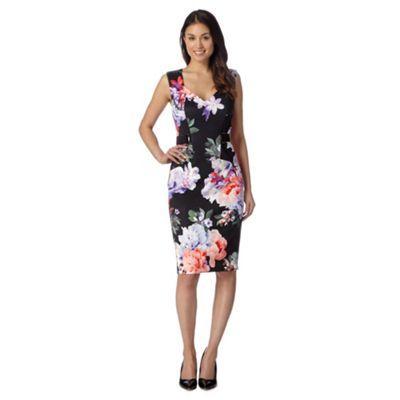 Star by Julien Macdonald Designer black floral scuba dress- at Debenhams.com