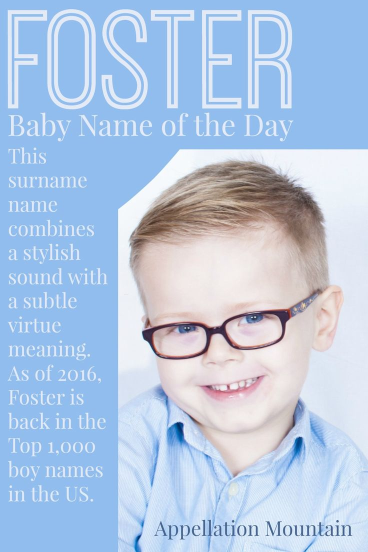 Foster Baby Name Of The Day