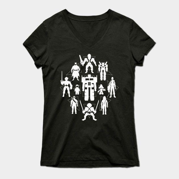 Plastic Heroes Womens V-Neck T-Shirt