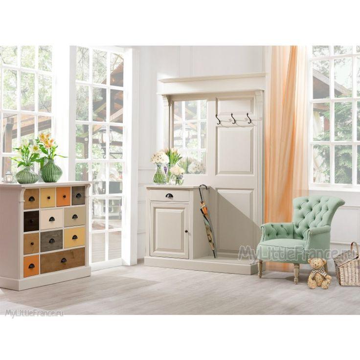 Вешалка с зеркалом Liliane - Прихожая - Прочая мебель - Мебель по комнатам My Little France
