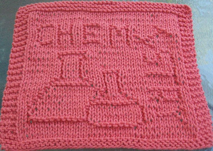 Knitting Dishcloth For Beginners : Images about knitting i must make more on