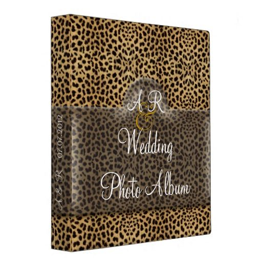 Leopard Wedding Album Binder