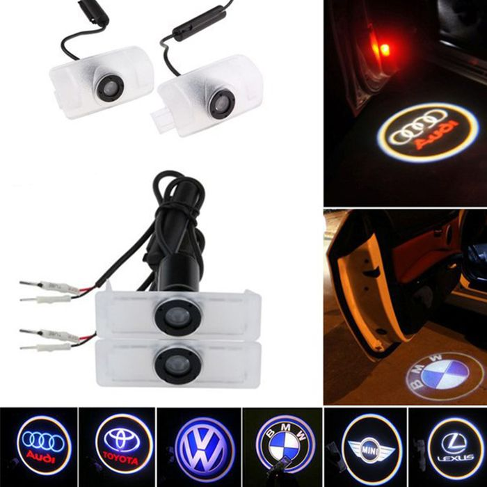 Pair of amazing door step courtesy laser projector #Autofurnish #Ghost #Shadow #lights. Shop Now @ http://www.autofurnish.com/ghost-shadow-light